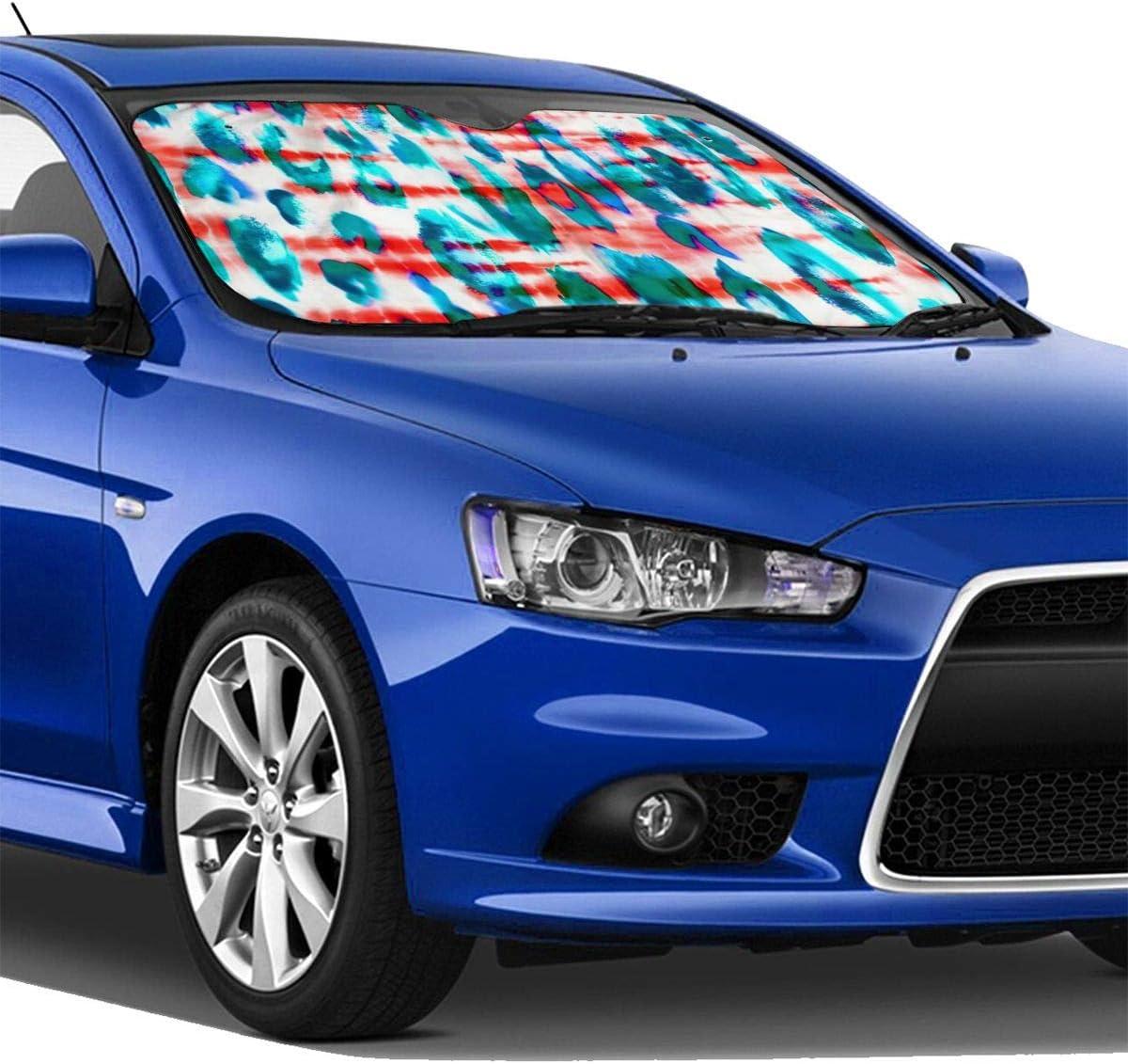 TMVFPYR Accordion Style Car SUV Front Windshield Purples Blues Mermaid Scales Shams Sunshade