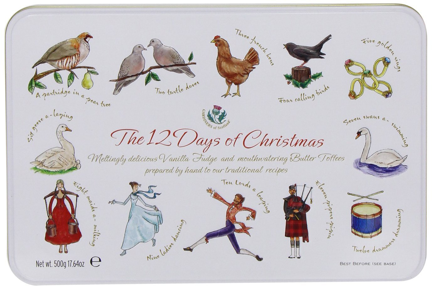 Gardiners of Scotland The Twelve Days of Christmas Fudge Caramels and Toffee, 17.64-Ounce Containers by Gardiners of Scotland