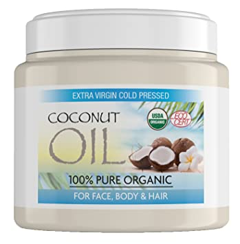Organic Coconut Oil for Hair Made from 100% Pure Coconuts, Perfect Coconut Oil for Skin, Hair and Face - 500 Gram Tub