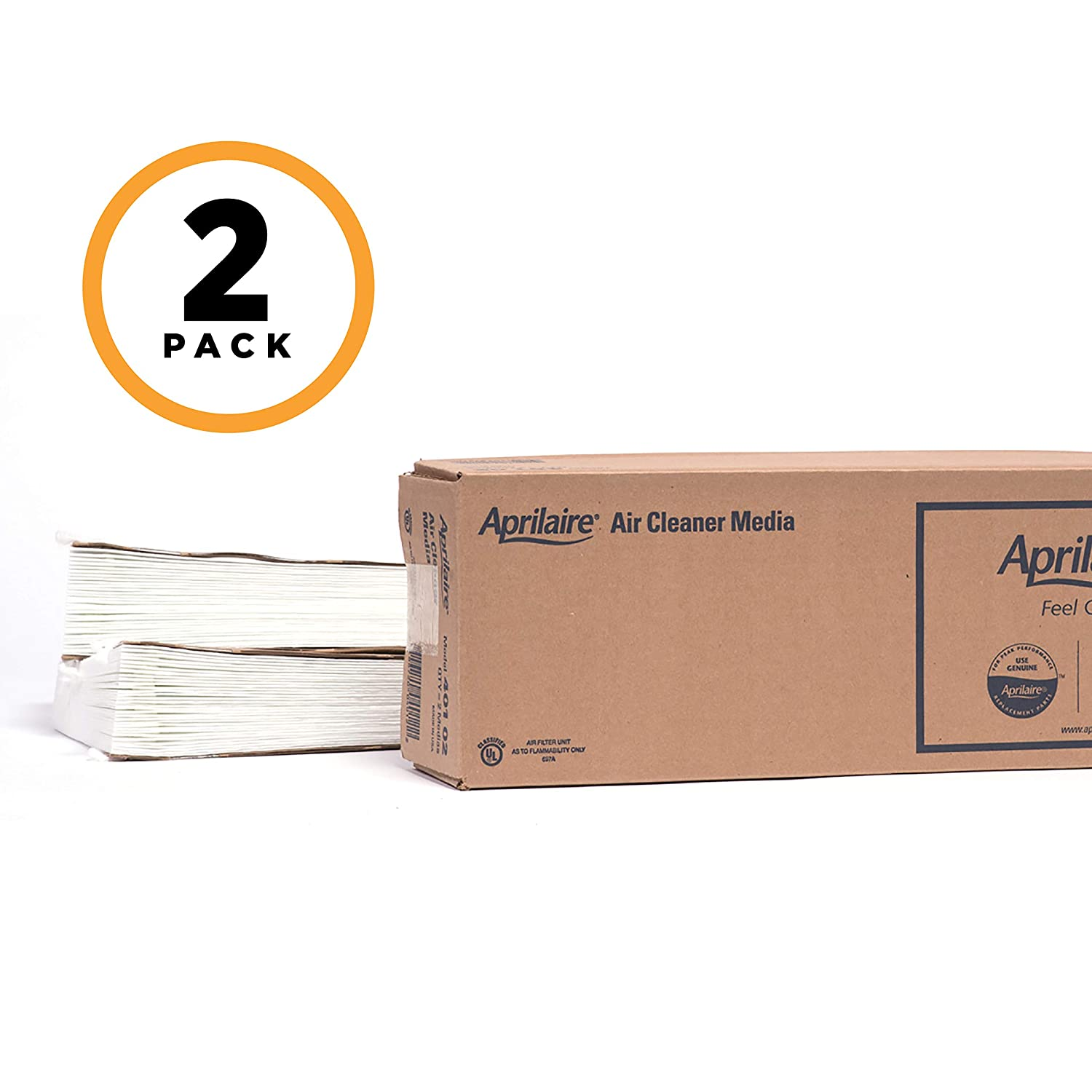 Aprilaire 401 Replacement Filter for Aprilaire Whole House Air Purifier Model: 2400, Space Gard 2400, MERV 10 (Pack of 2)