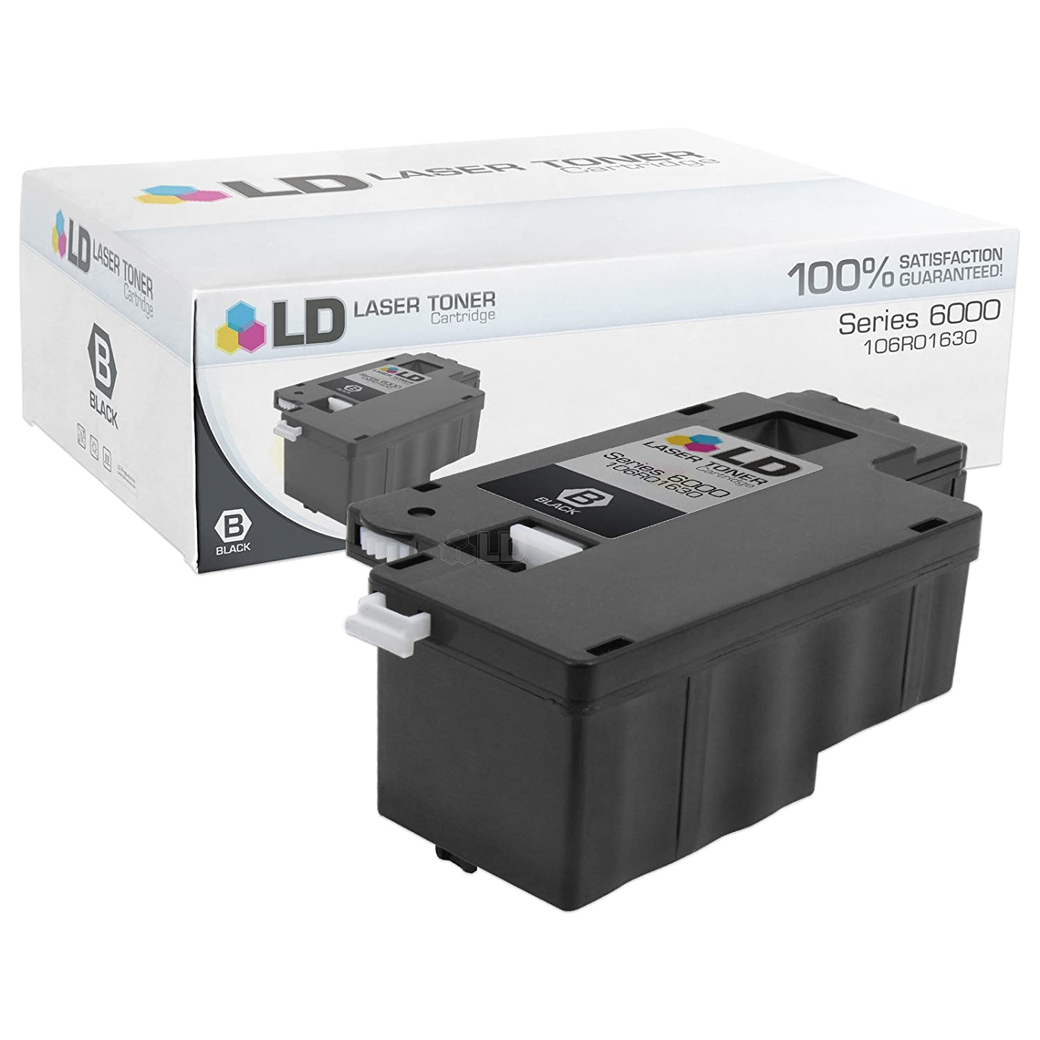 Amazon com ld compatible replacement for xerox 106r1630 black laser toner cartridge for use in phaser 6000 6010 6010n workcentre 6015 6015v b