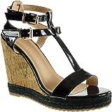 angkorly womens fashion shoes sandals tbar platform
