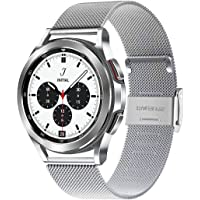 WATORY Bransoletka kompatybilna z Samsung Galaxy Watch 4 44 mm 40 mm, pleciona siatka ze stali nierdzewnej, metalowa…