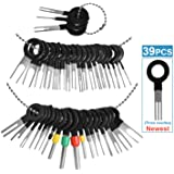 MENKEY Terminal Removal Tool Kit for Car, 39 Pieces Wire Connector Pin Release Key Extractor Tools Set for Most Connector Ter