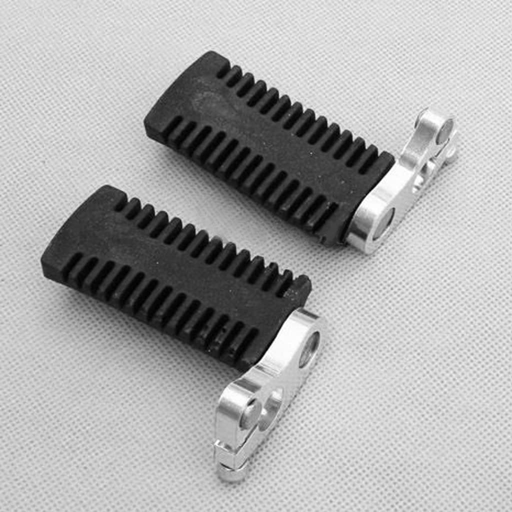 KESOTO Pair of Footpegs Foot Rest Pegs for 47cc 49cc Mini Moto Pocket Bike Black