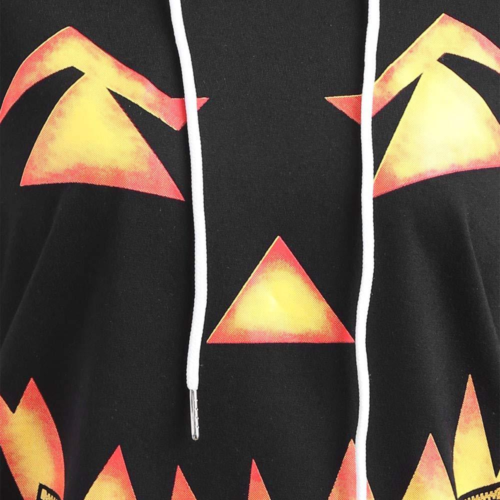 Amazon.com: ANJUNIE tops Women Hooded Halloween, Pumpkin Face Printed Drawstring Hoodie Sweatshirt: Clothing