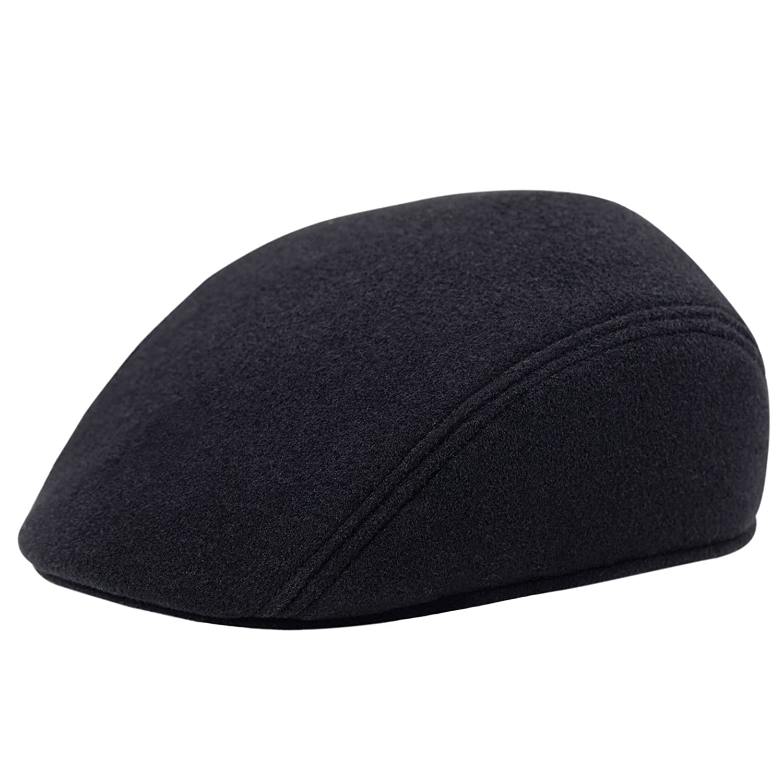 Sterkowski Men s Melton Wool Flat Cap with Earflap at Amazon Men s Clothing  store  7d6549feb07d