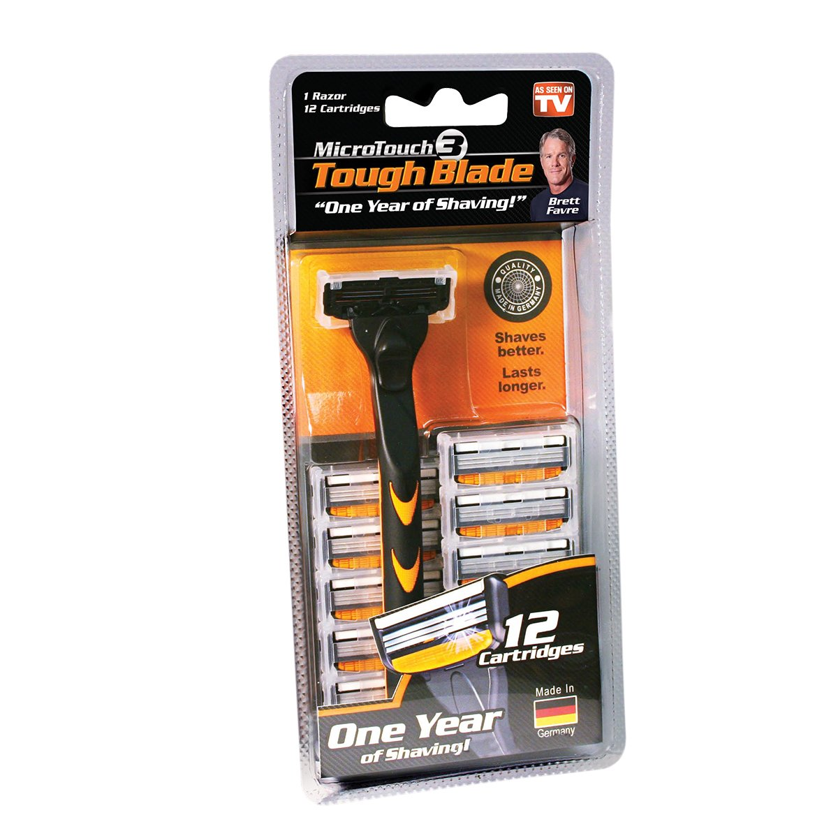 Micro Touch Triple-Blade Razor with 12 Refill Cartridges