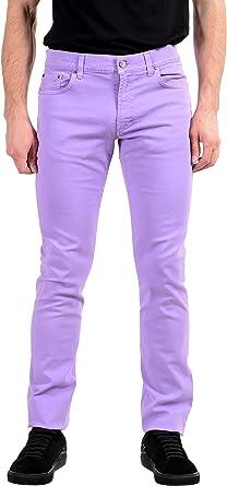 Amazon Com Versace Collection Slim Pantalones Vaqueros Ajustados Para Hombre Color Morado Clothing
