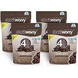 DON'T WORRY SNACKS SALUDABLES   Quinoa Bites con solo 4 CALORÍAS, 4 PACK Sabor a Chocolate   Botanas Gluten Free, Altos en Fi