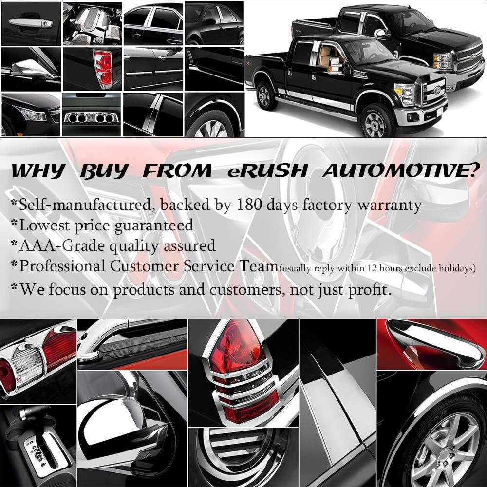 Handle Covers for 2004-2014 F-150 ^SuperCrew Cab^ erushautoparts Pillar Trims
