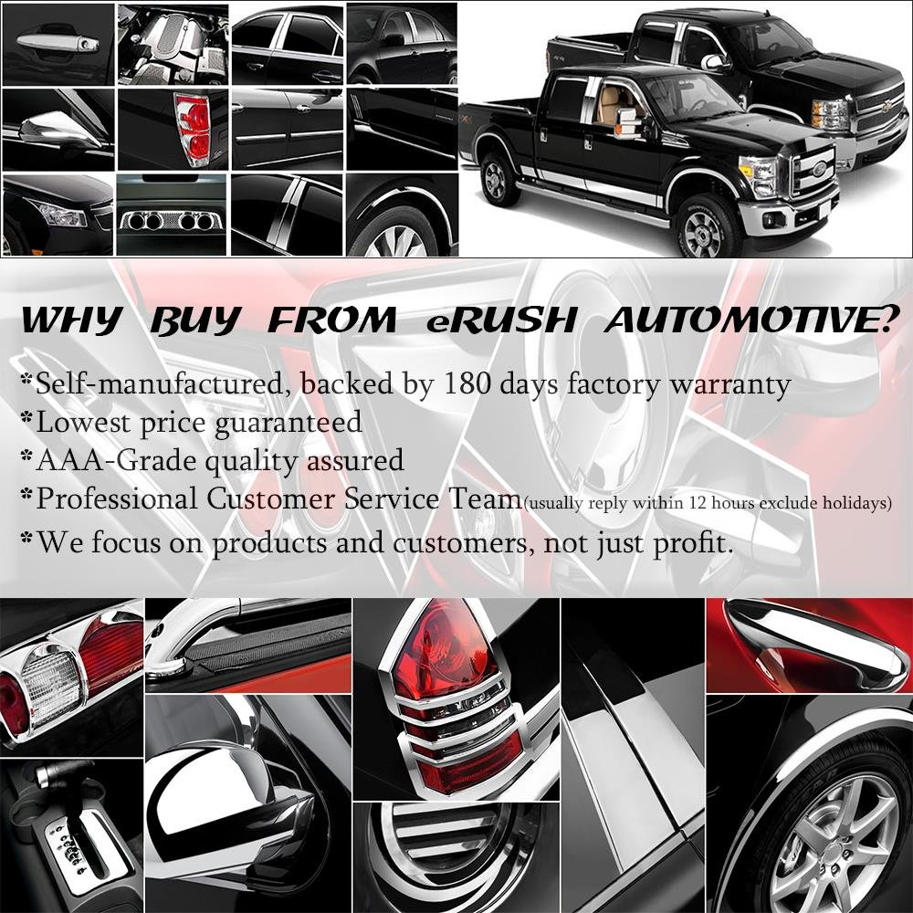 erushautoparts Black Door Handle Covers Compatible with Chrysler+Dodge+Jeep Sedans/&Trucks