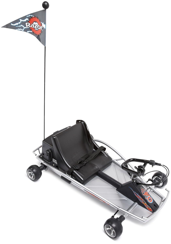 amazoncom razor ground force electric go kart silver sports outdoors
