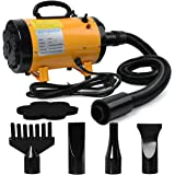 3.2HP 2 Speed Adjustable Heat Temperature Pet Grooming Force Hair Dryer With 4 Different Nozzles