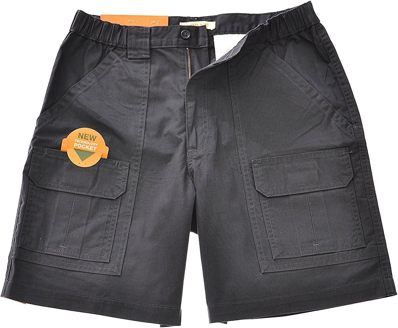 Savane Mens UPF 30 Comfort Hiking Cargo Shorts w//Tech Pocket