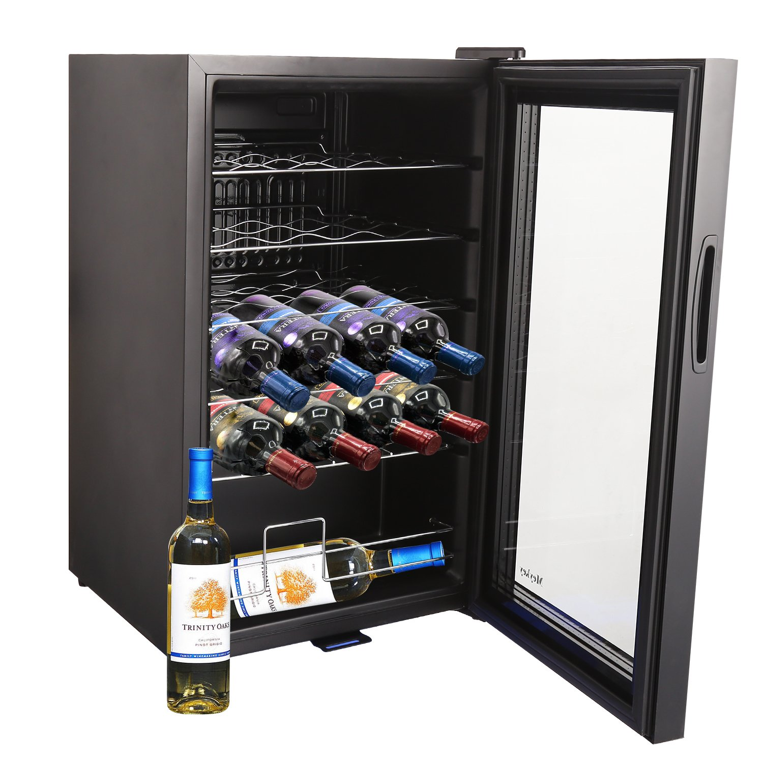 24 Bottle Thermoelectric Wine Cooler Standing Compressor Counter Top Refrigerator(US STOCK) by MeyKey (Image #4)