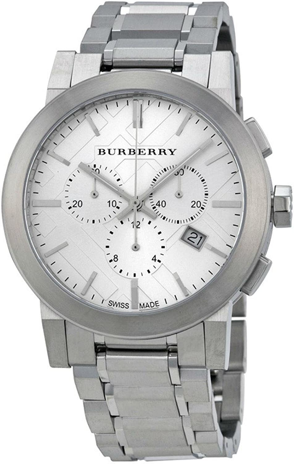 BURBERRY BU9350 - Reloj, Correa de Acero Inoxidable Color Plateado
