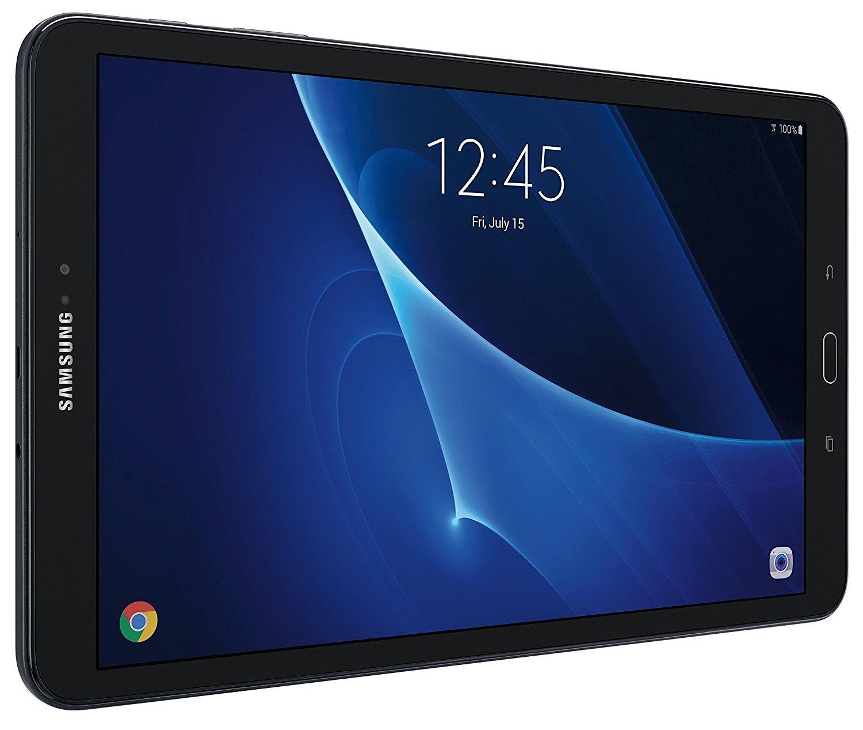 Samsung Galaxy Tab A SM-T580 10.1-Inch Touchscreen 16 GB Tablet (2 GB Ram, Wi-Fi, Android OS, Black) Bundle with 32GB microSD Card by Samsung