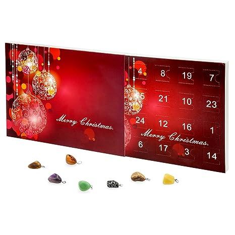 Calendrier Semi.Calendrier De L Avent Esoterique Merry Christmas Bijou Valiosa 1001 23 Pierres Semi Precieuses 1 Collier 1 Lot 24 Pieces