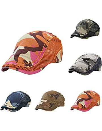 06588de7501 Top Bee hat Cap Unisex Mesh Camouflage hat Beret Sunscreen Quick-Drying hat  Cotton Washing
