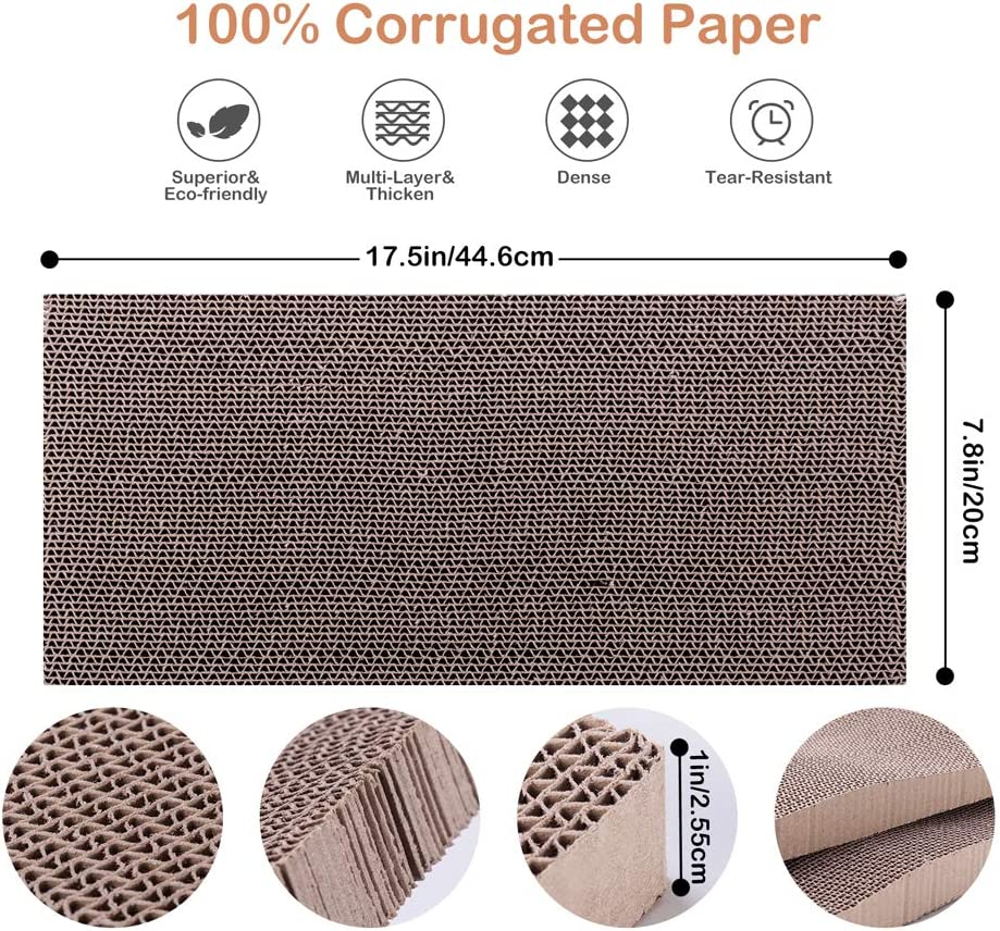 WellQ 3Packs Corrugated Cat Scratcher Cardboard… : Pet Supplies