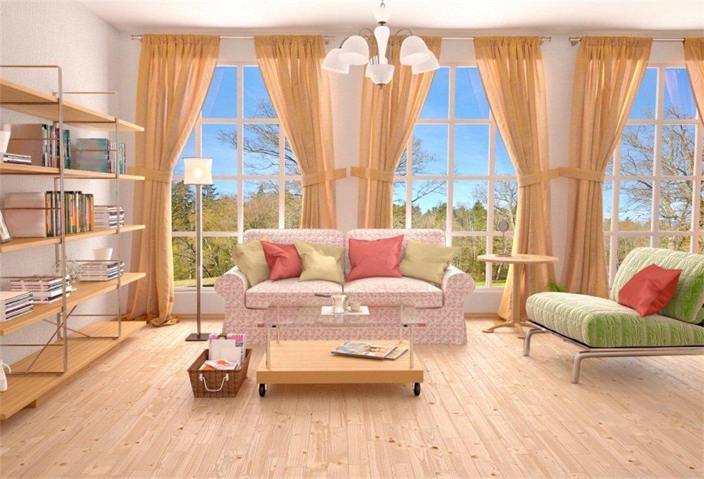 Amazon Com Lfeey 10x8ft Empty Living Room Backdrop Simple