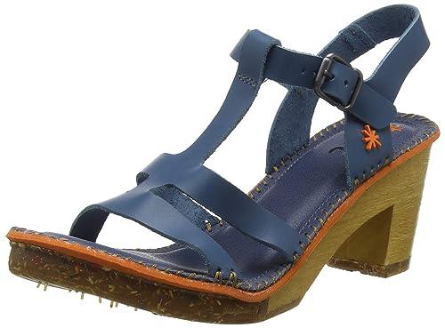 ca1265fc6d8d62 Art 1079 Becerro Jeans/Amsterdam, Sandali con Chiusura sul Retro Donna, Blu,