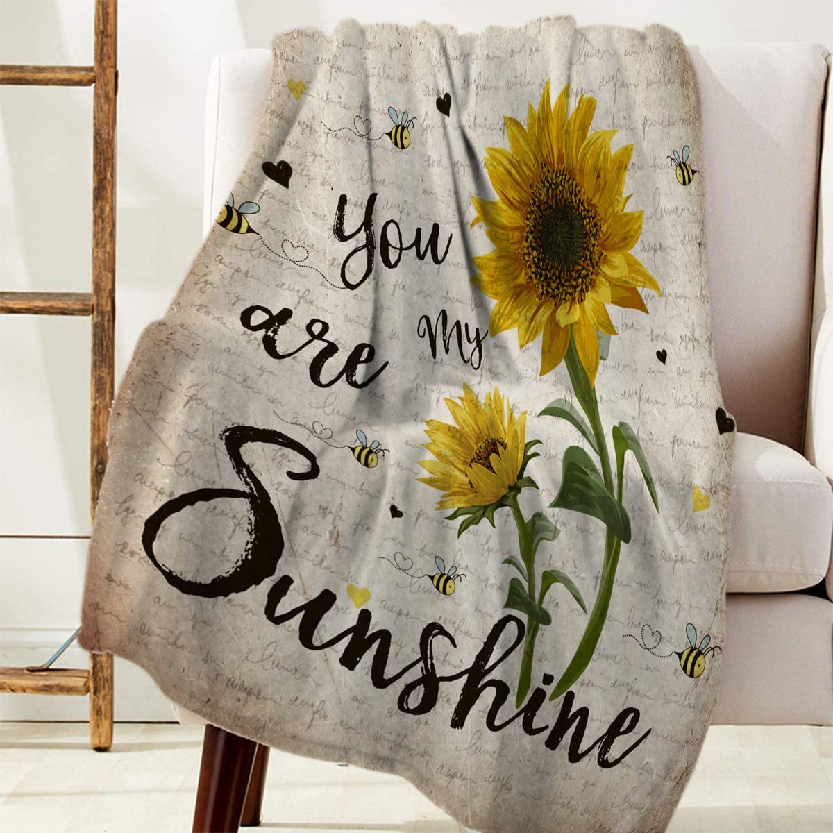 Rustic Sunflower Blanket