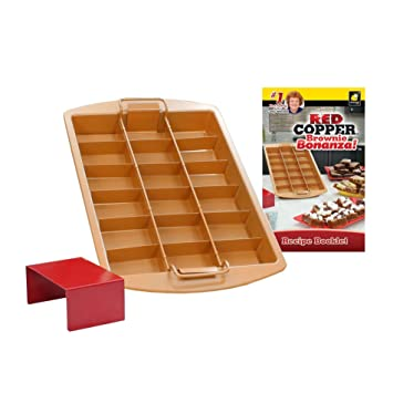 Amazon Com Red Copper Brownie Bonanza Pan By Bulbhead Includes