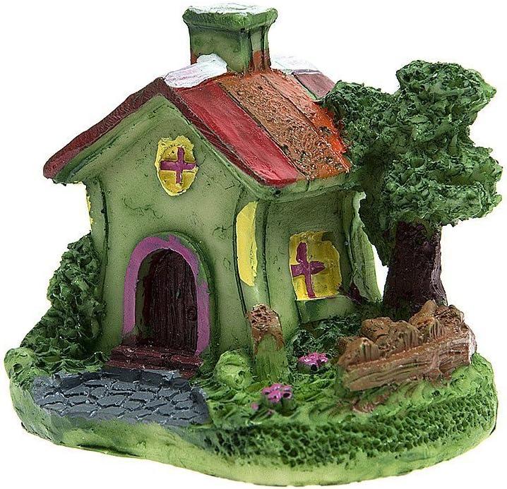SecretRain Miniature Garden Fairy Ornament Green Lawn