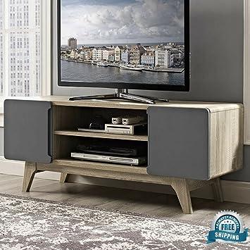 Tv Stand For Men Kids 42 Inch Drawers Storage Wood Organizer Rack Women Bedroom