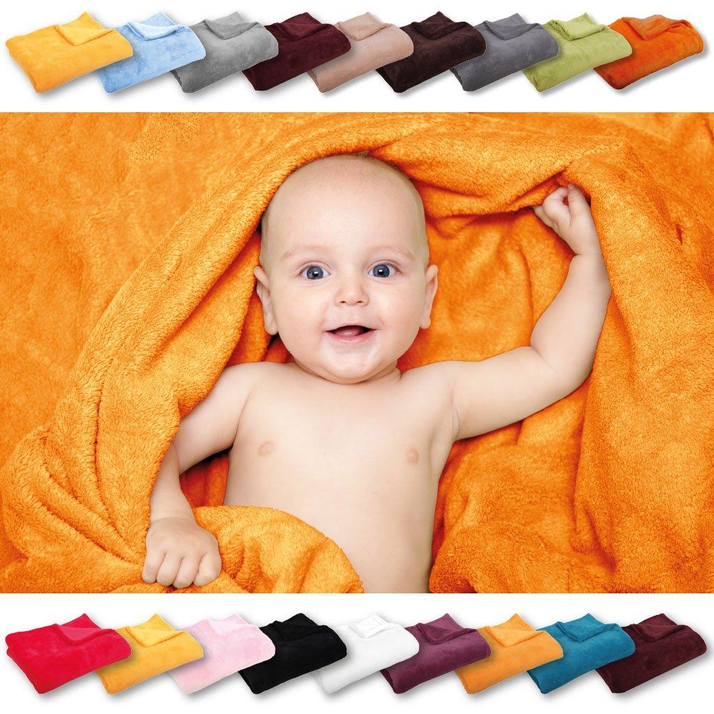 Bestlivings Babydecke Schmusedecke Kuscheldecke Krabbeldecke Wickeldecke Mikrofaser viele Farben und Gr/ö/ßen ca. 60x80 cm//aquablau - t/ürkis