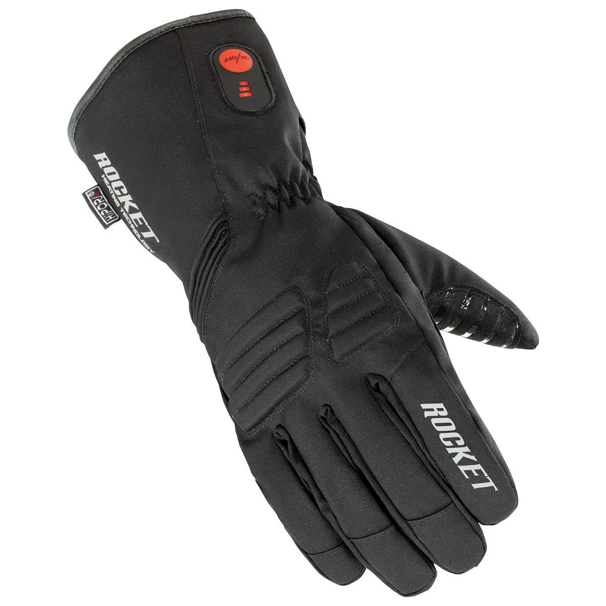HJC Rocket Burner Men's Heated Cold Weather Gloves (Black, X-Large)