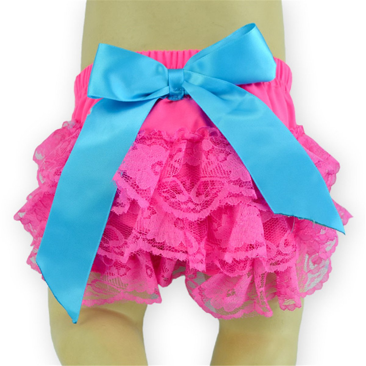Anbaby Baby Girl's Bloomers Lace Diaper Covers + Headband Set Anbaby140