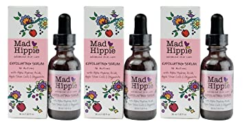 Mad Hippie Vitamin A Serum, 1.02 oz & Exfoliating Serum, 1.02 oz Set Skinlab Lift and Firm Daily Moisturizer, 2.25 Ounce