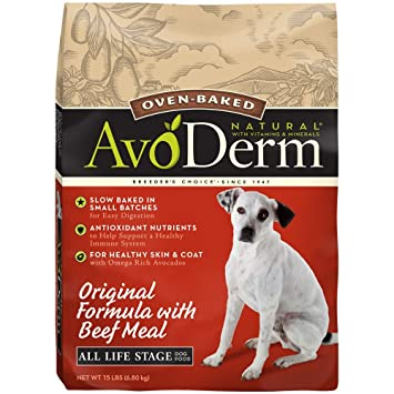Avoderm Natural Oven Baked Original With Beef Meal Dry Dog Food