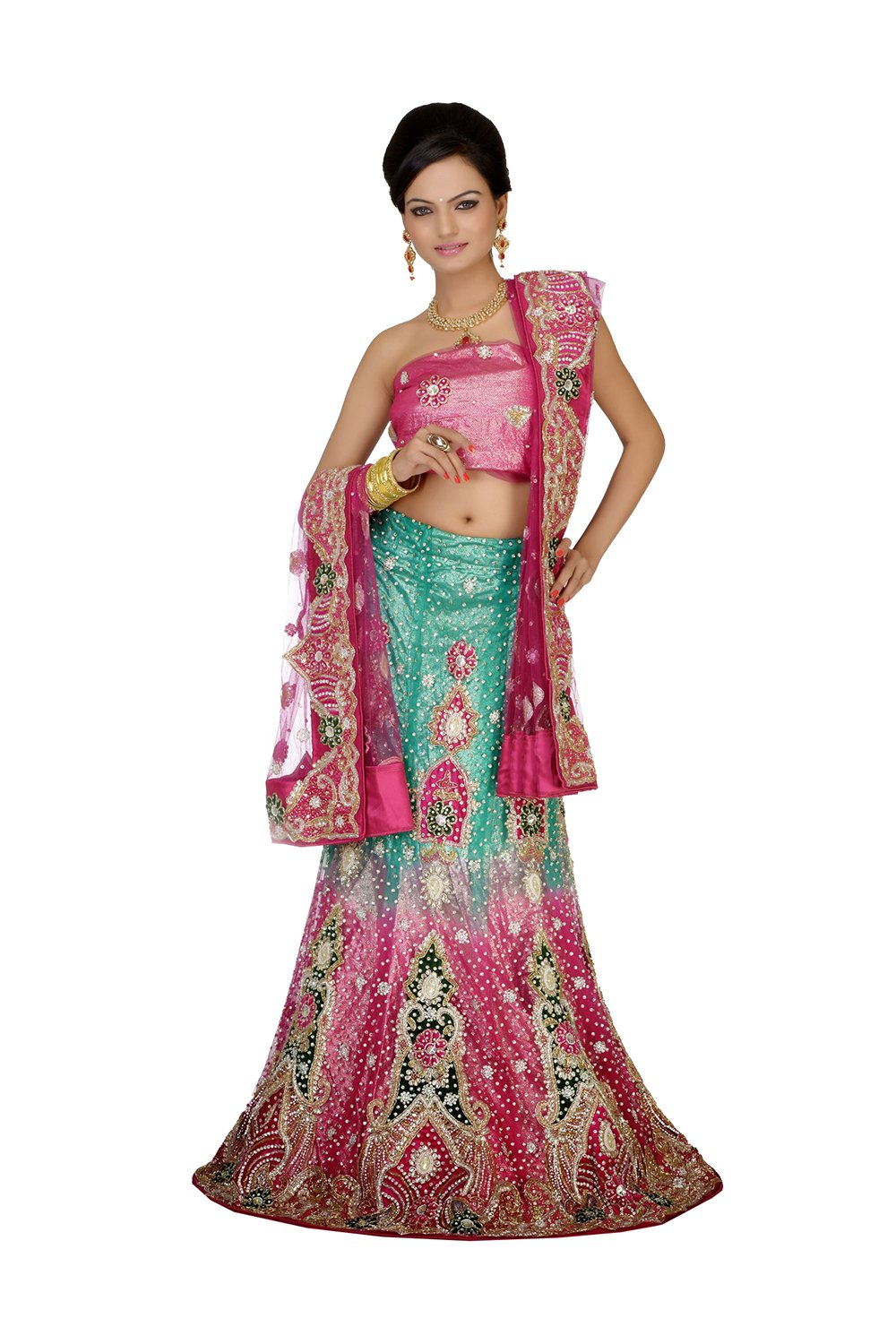 Indian Lehenga Choli For Women Party Wear Pink Designer Traditional