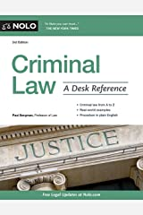 Criminal Law: A Desk Reference Paperback