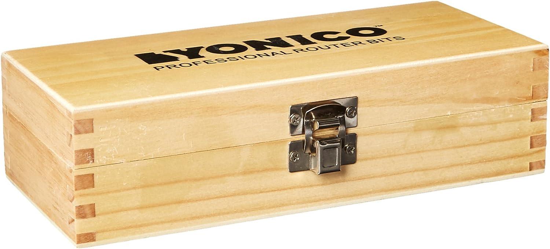 Yonico 12338q Ogee 3 Bit Raised Panel Cabinet Door Router Bit Set 1//4-Inch Shank