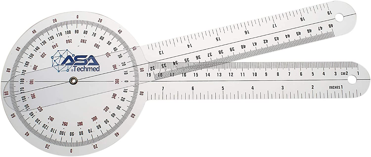 Chaoxiner Scale Ruler Angle Protractor Inch Ruler,3Pcs//Set Physio Goniometer Measuring Tools Woodworking for DIY Builders Carpenters Tilers Craftsmen Construction Workers