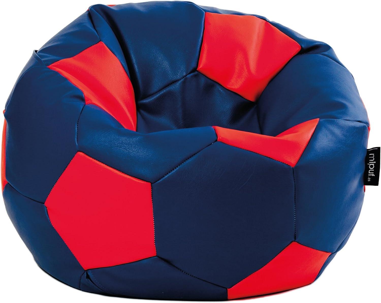 MiPuf - Puff Futbol Original - 120cm diámetro - Tejido Polipiel ...