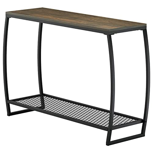 Sofa Console Table, Vintage Entryway Table with Storage Shelf for Hallway Living Room
