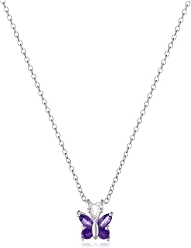 Butterfly Jeweled Pendants 925 Sterling Silver with Handmade Prong Setting