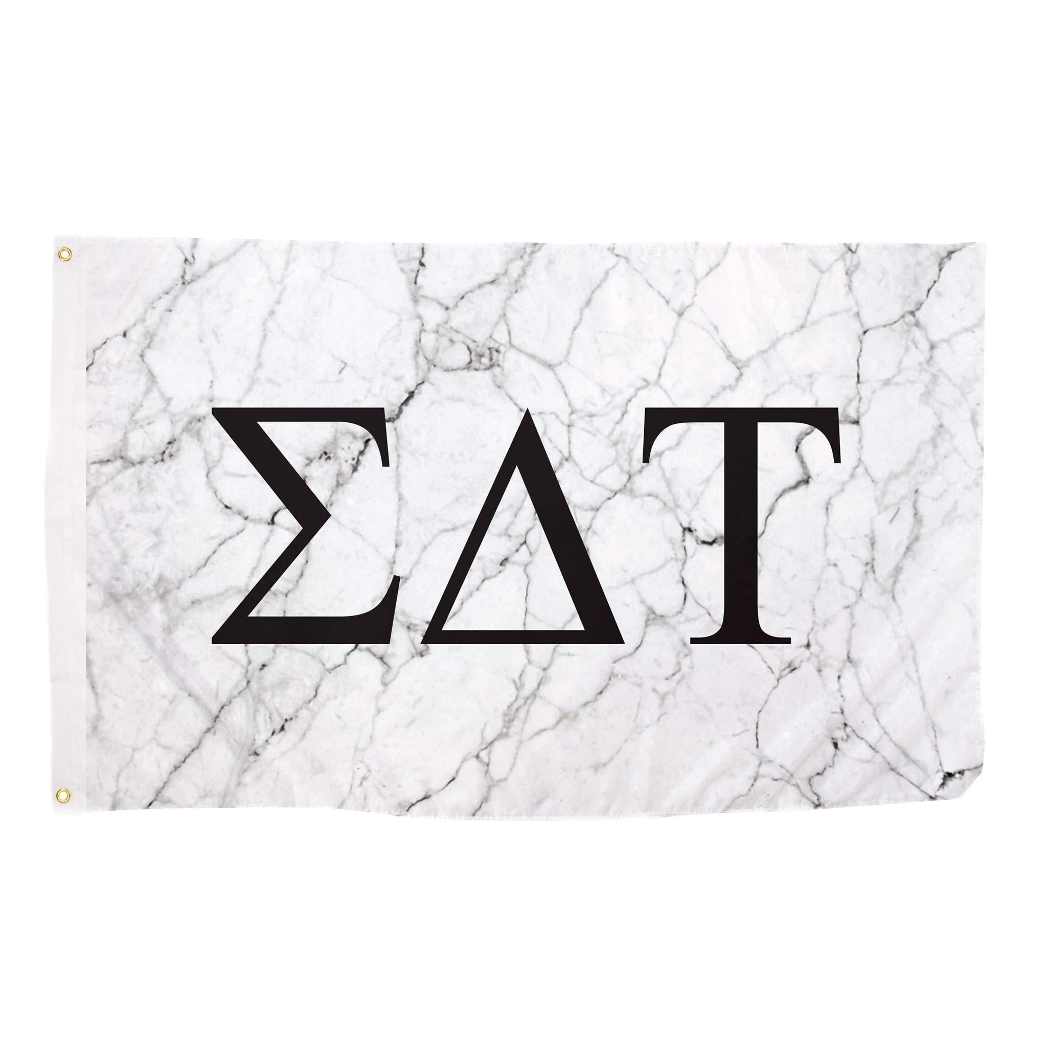 Sigma Delta Tau Light Marble Sorority Letter Flag Banner 3 x 5 Sign Decor Sig Delt