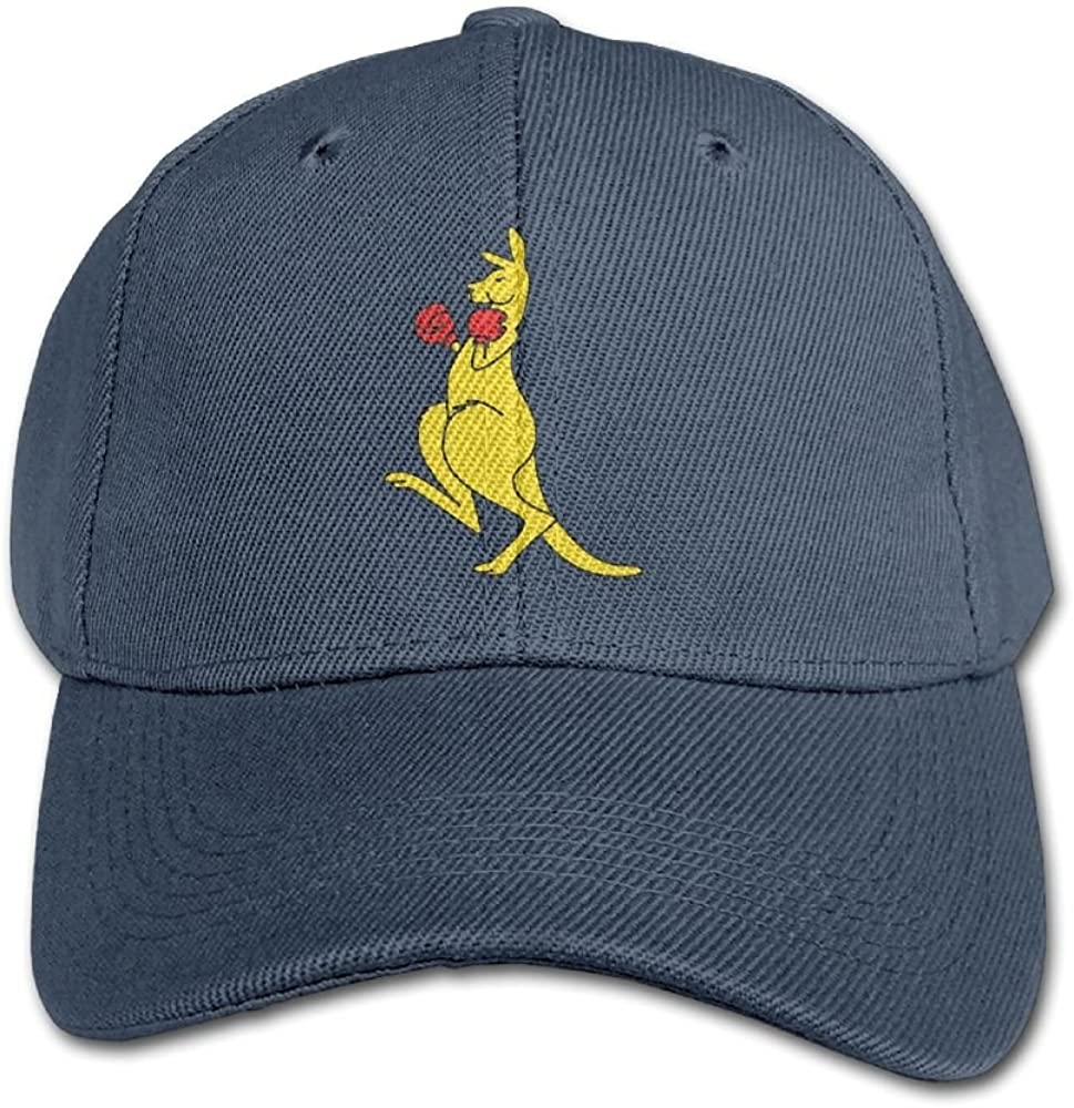 Haibaba Kangaroo Boxer Boys and Girls Black Baseball Caps Solid Hats