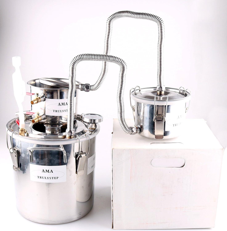 3 Pots DIY 2 Gal 10 Litres DIY Home Alcohol Moonshine Still Spirits Boiler Water Wine Distiller Brewing Kit Moonshine Stills by QHC