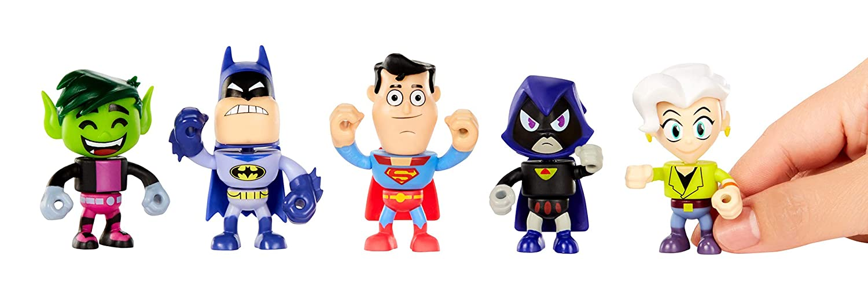 to The Movies Mini Figures 5-Pack- Batman Jade Wilson Beast Boy Superman Teen Titans Go /& Raven Mattel GBR89