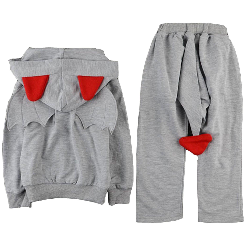 ARAUS Completini Felpa e Pantaloni Piccolo Diavolo Da Bimbo a Manica Lunga Con 3D Ala 7150P10