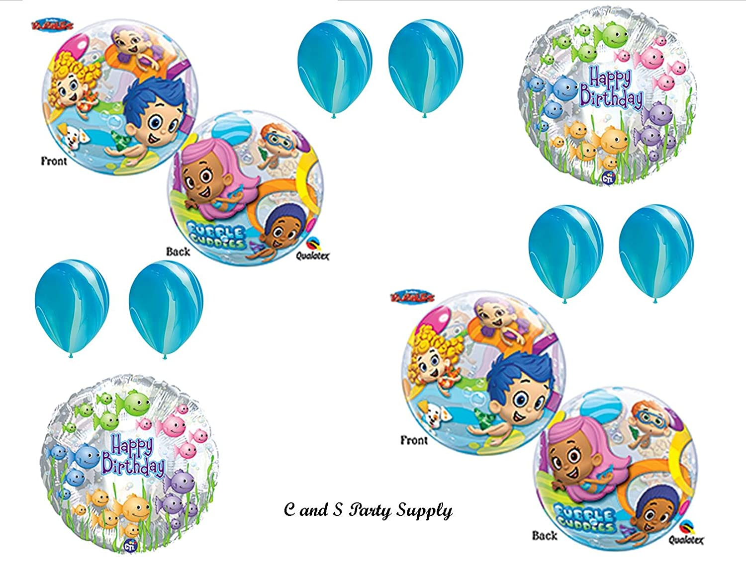 Amazon.com: Bubble Guppies #2 Birthday Party Balloons Decorations ...