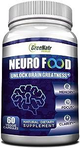 Brain Supplement to Enhance Memory, Energy, Focus and Clarity For Men& Women. Best Natural Alternative of Nootropics with Vitamin B12, Folic Acid, Ginkgo Biloba ,vitamin B6 / B1 & Choline. Veggie Caps